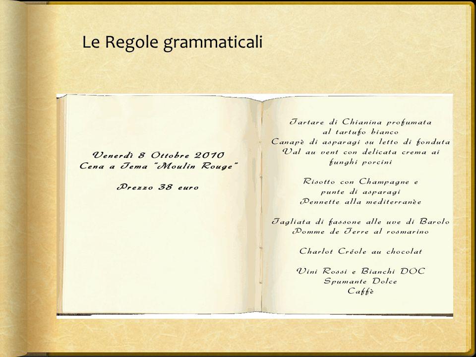Le Regole grammaticali