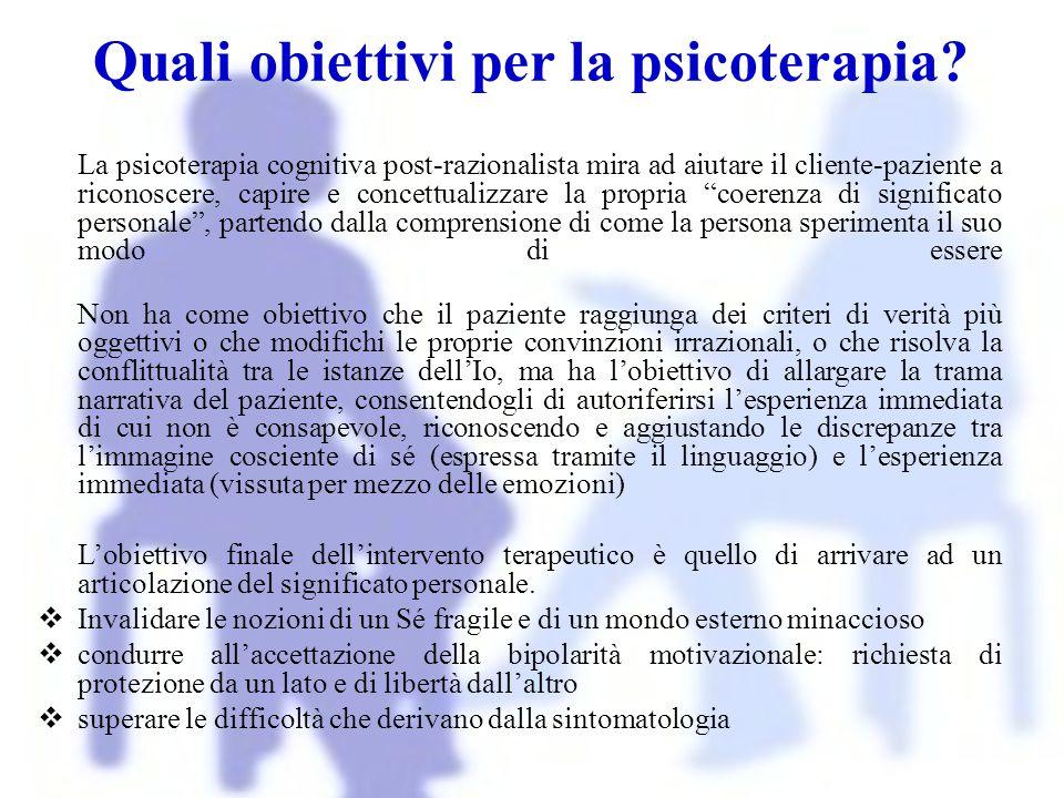 """La psicoterapia cognitiva post-razionalista mira ad aiutare il cliente-paziente a riconoscere, capire e concettualizzare la propria """"coerenza di signi"""