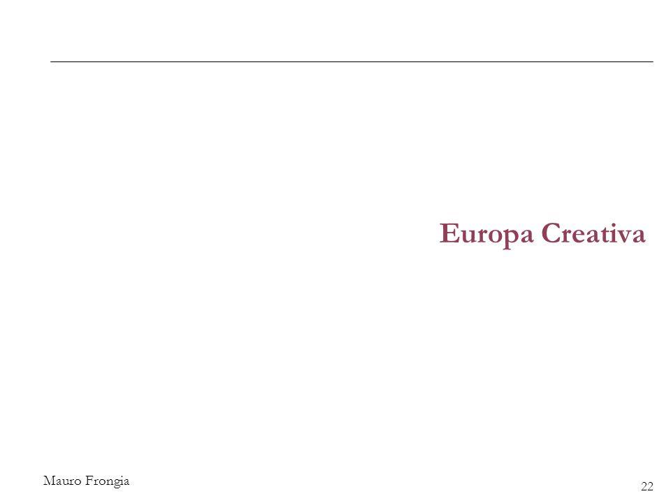 Mauro Frongia Europa Creativa 22