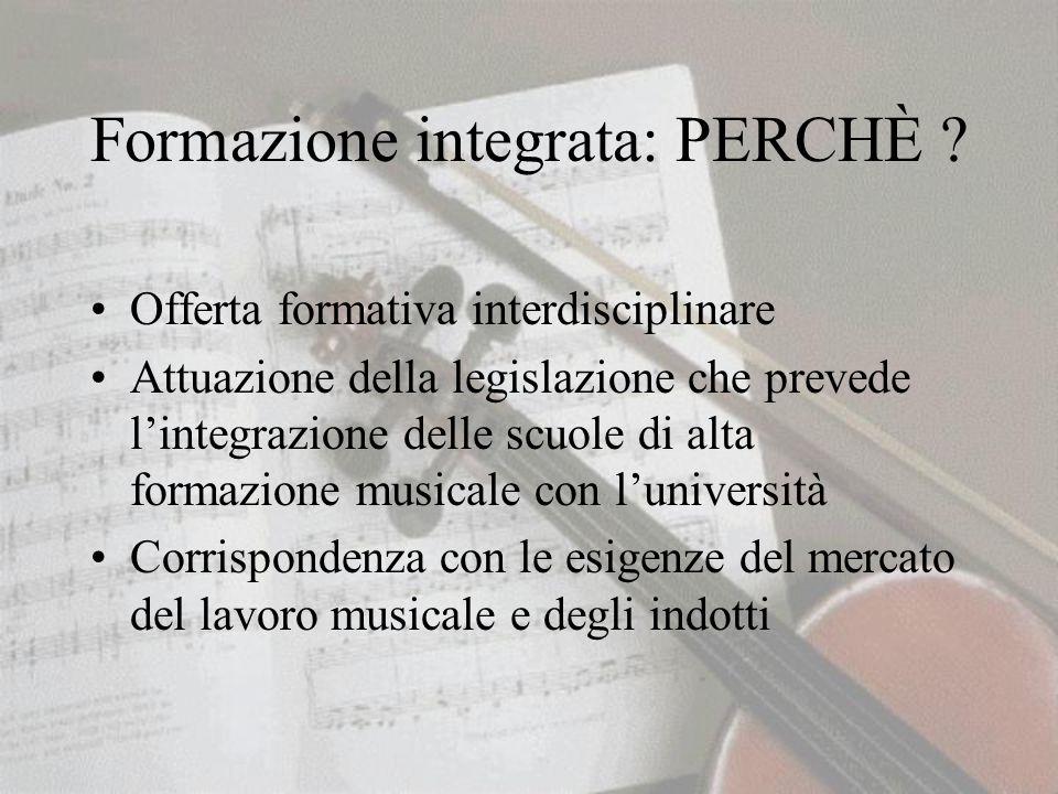 Formazione integrata: PERCHÈ .
