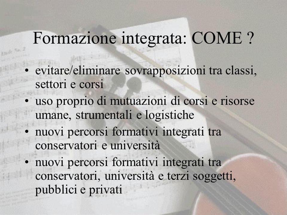 Formazione integrata: COME .