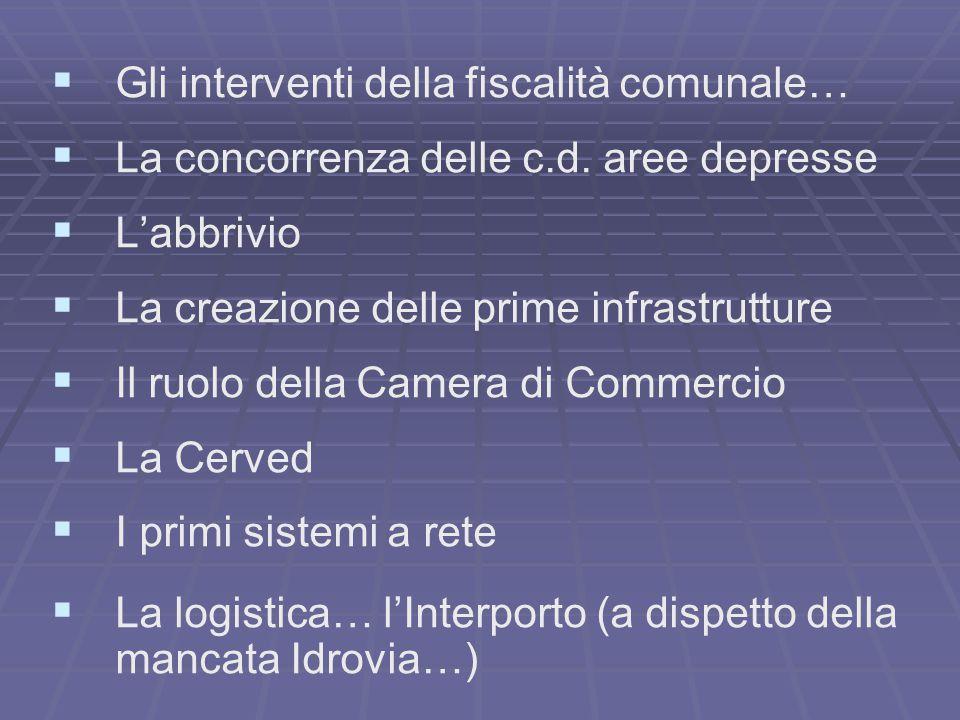   Gli interventi della fiscalità comunale…   La concorrenza delle c.d.