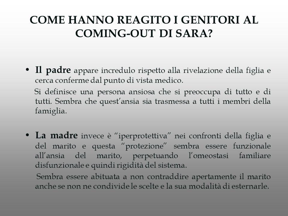 COME HANNO REAGITO I GENITORI AL COMING-OUT DI SARA.