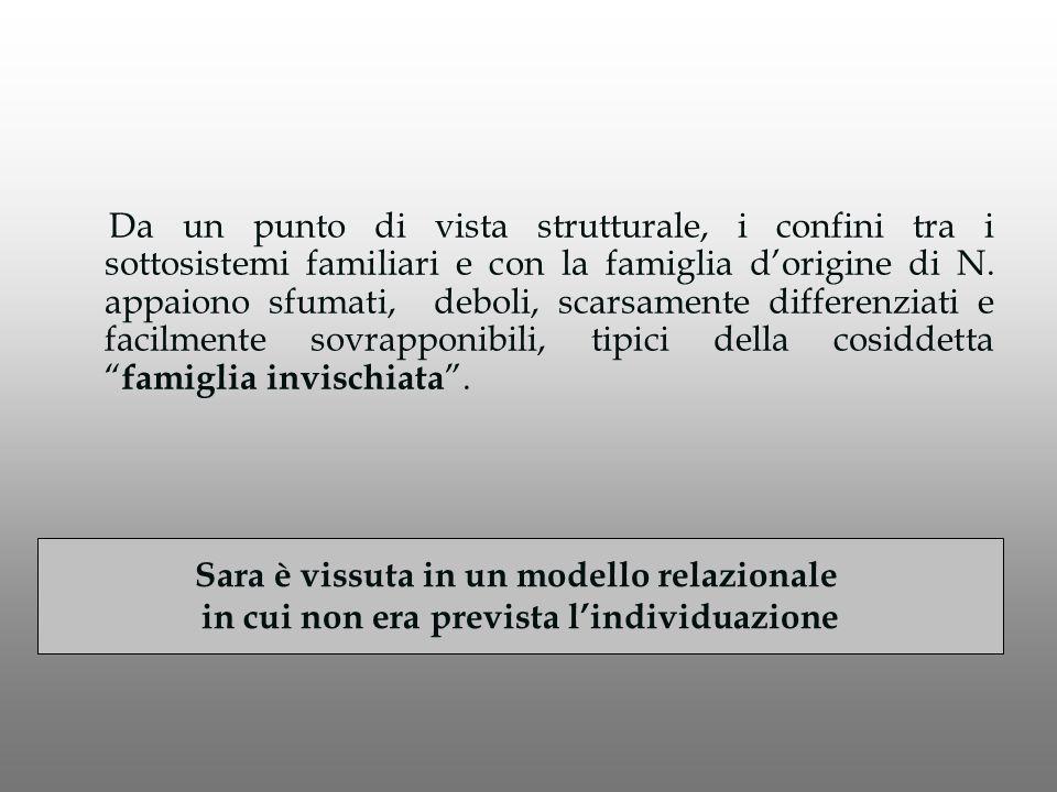 Da un punto di vista strutturale, i confini tra i sottosistemi familiari e con la famiglia d'origine di N.