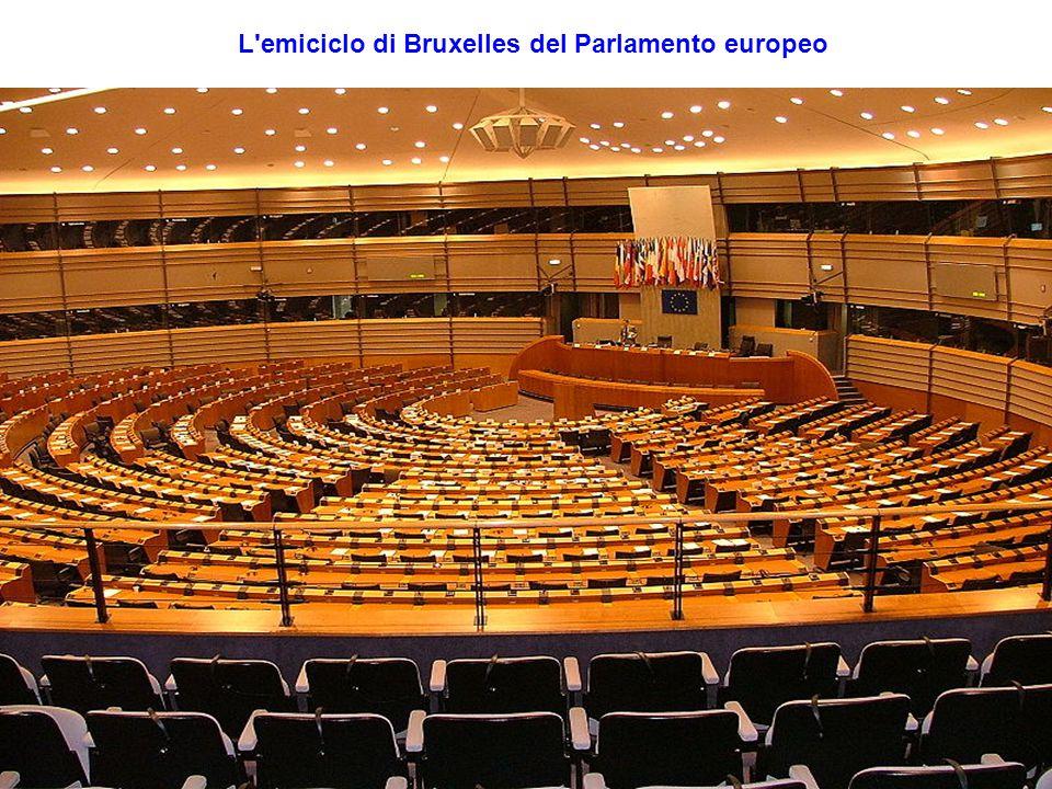 L'emiciclo di Bruxelles del Parlamento europeo