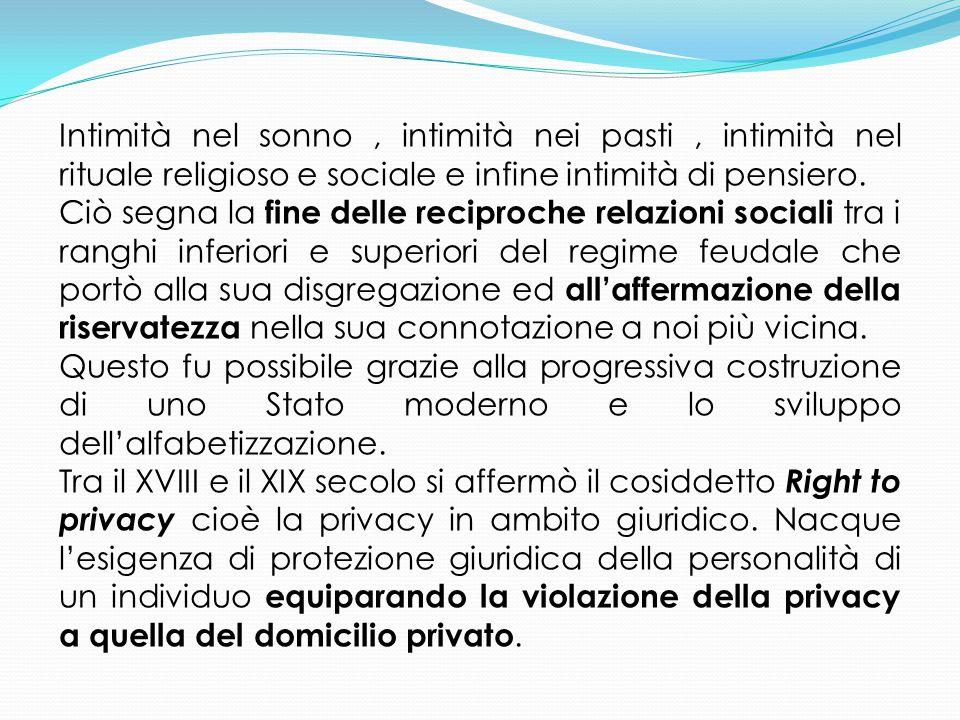Il diritto alla Privacy nell'ordinamento italiano : La tutela generale dell'interesse alla riservatezza trova fondamento negli artt.