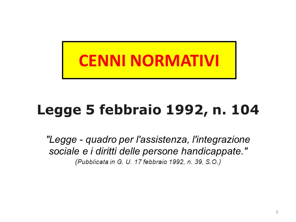 CENNI NORMATIVI Legge 5 febbraio 1992, n.