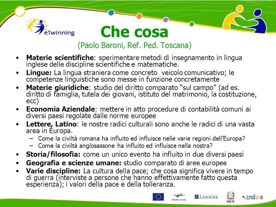 Che cosa (Paolo Baroni, Ref. Ped.