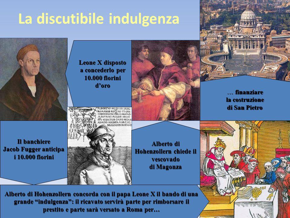 La discutibile indulgenza … finanziare la costruzione di San Pietro Alberto di Hohenzollern chiede il vescovado di Magonza Leone X disposto a conceder