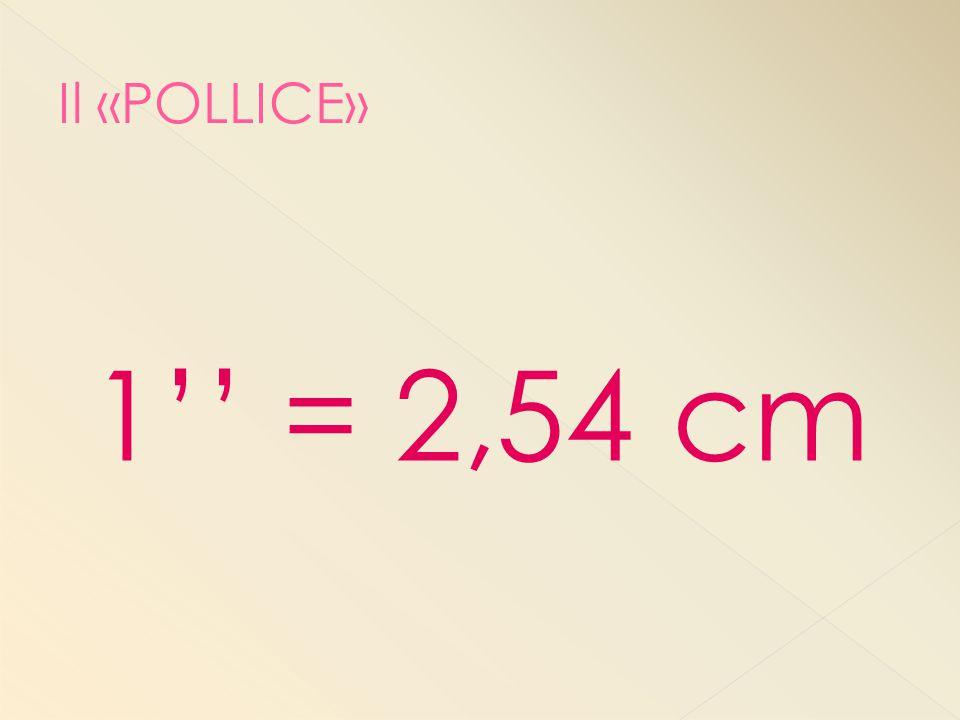 1'' = 2,54 cm