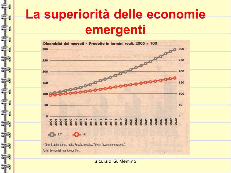 a cura di G. Memmo La superiorità delle economie emergenti