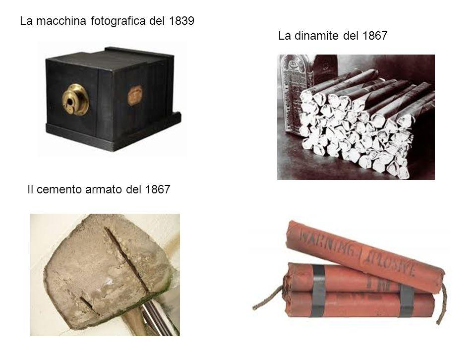 La macchina fotografica del 1839 Il cemento armato del 1867 La dinamite del 1867