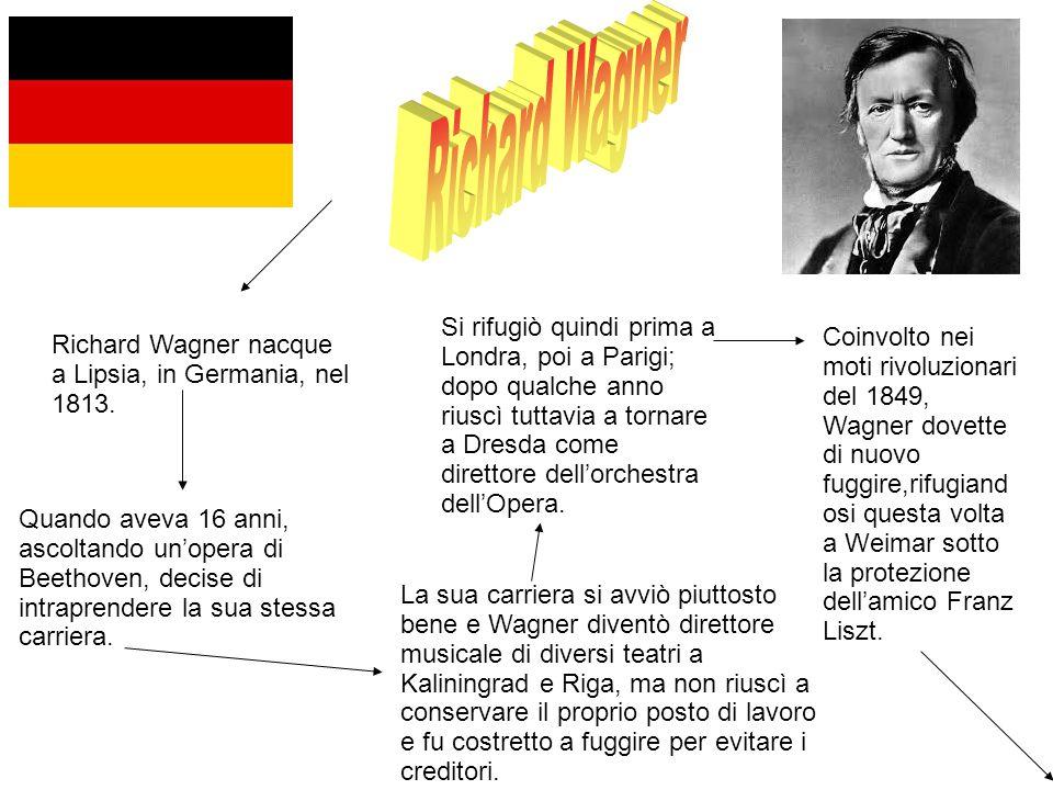 Richard Wagner nacque a Lipsia, in Germania, nel 1813.