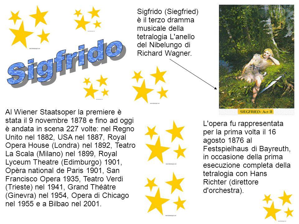 Sigfrido (Siegfried) è il terzo dramma musicale della tetralogia L anello del Nibelungo di Richard Wagner.