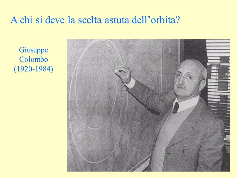 A chi si deve la scelta astuta dell'orbita Giuseppe Colombo (1920-1984)