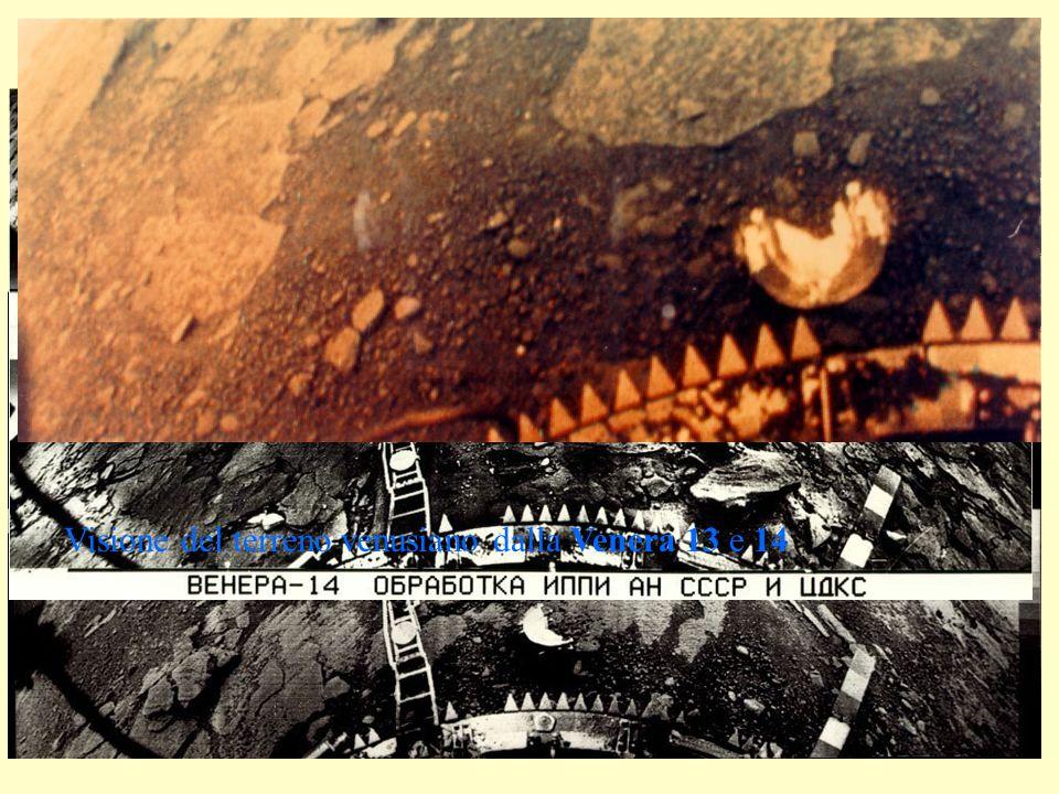 Visione del terreno venusiano dalla Venera 13 e 14
