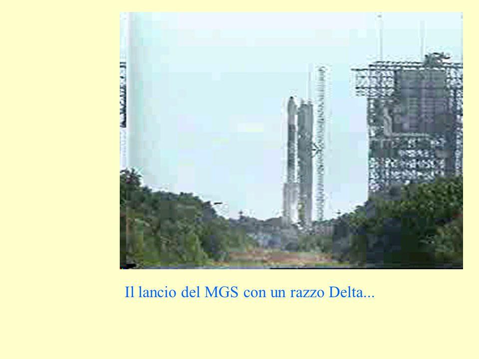 Il lancio del MGS con un razzo Delta...