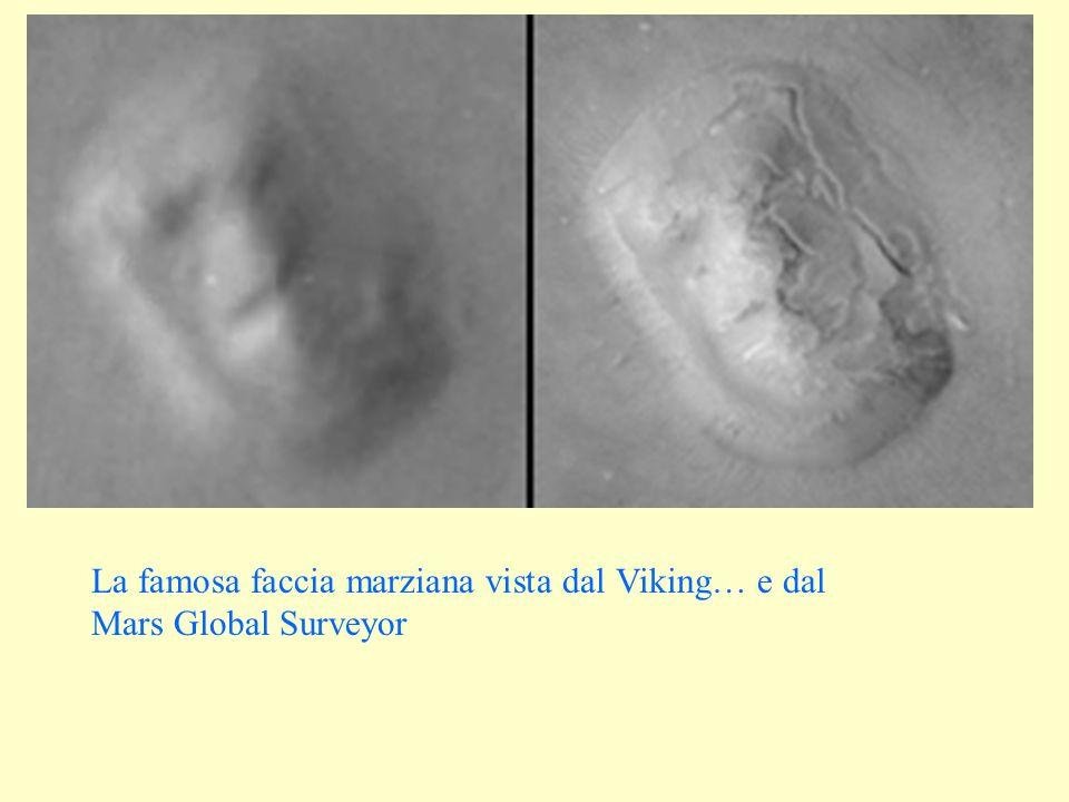 La famosa faccia marziana vista dal Viking… e dal Mars Global Surveyor