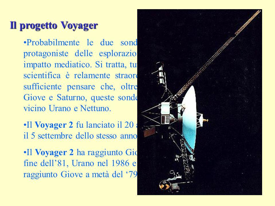 Il progetto Voyager Probabilmente le due sonde di questa serie sono state protagoniste delle esplorazioni planetarie con il maggiore impatto mediatico.