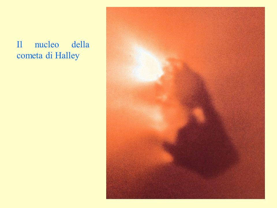 Il nucleo della cometa di Halley