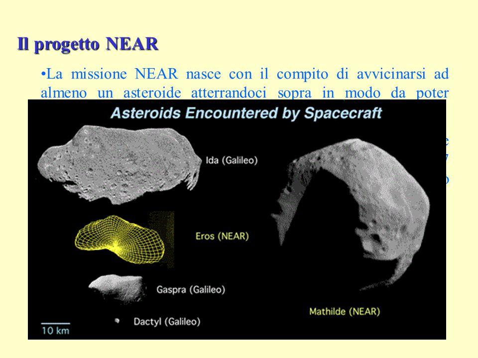 Il progetto NEAR La missione NEAR nasce con il compito di avvicinarsi ad almeno un asteroide atterrandoci sopra in modo da poter compiere sofisticate analisi scientifiche.