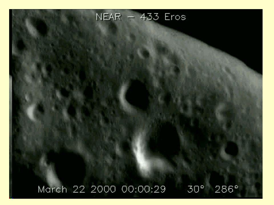 Ed ecco alcuni filmati sul sorvolo da parte della sonda NEAR degli asteroidi Mathilde ed Eros...