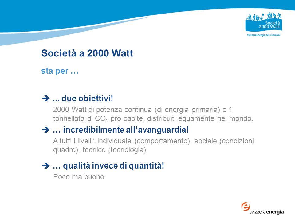 Società a 2000 Watt sta per … ... due obiettivi.