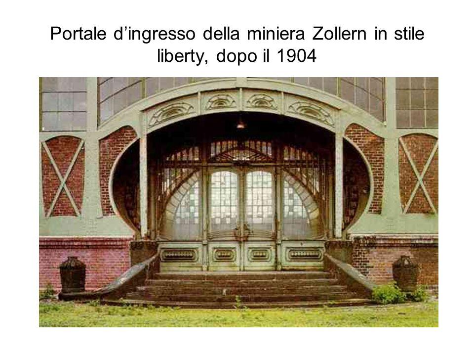 Portale d'ingresso della miniera Zollern in stile liberty, dopo il 1904