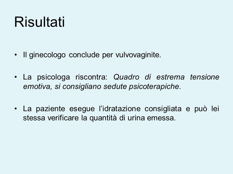 Il ginecologo conclude per vulvovaginite.