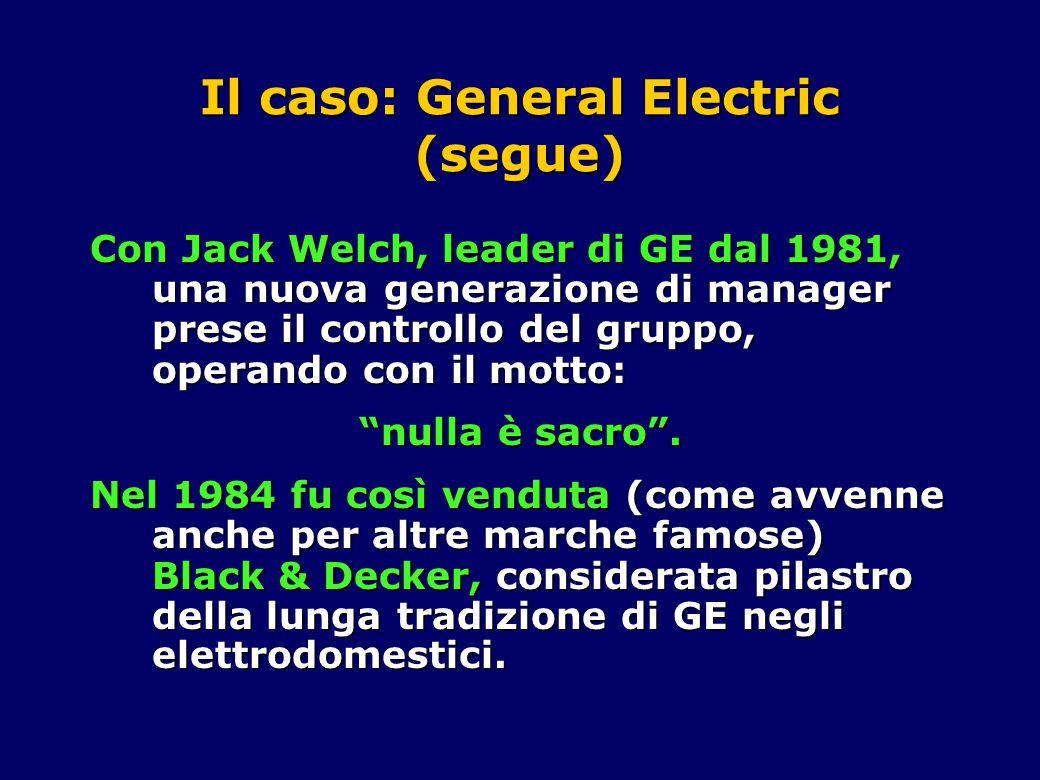 Il caso: General Electric (segue) Anni '80.Sono gli anni della crescita.