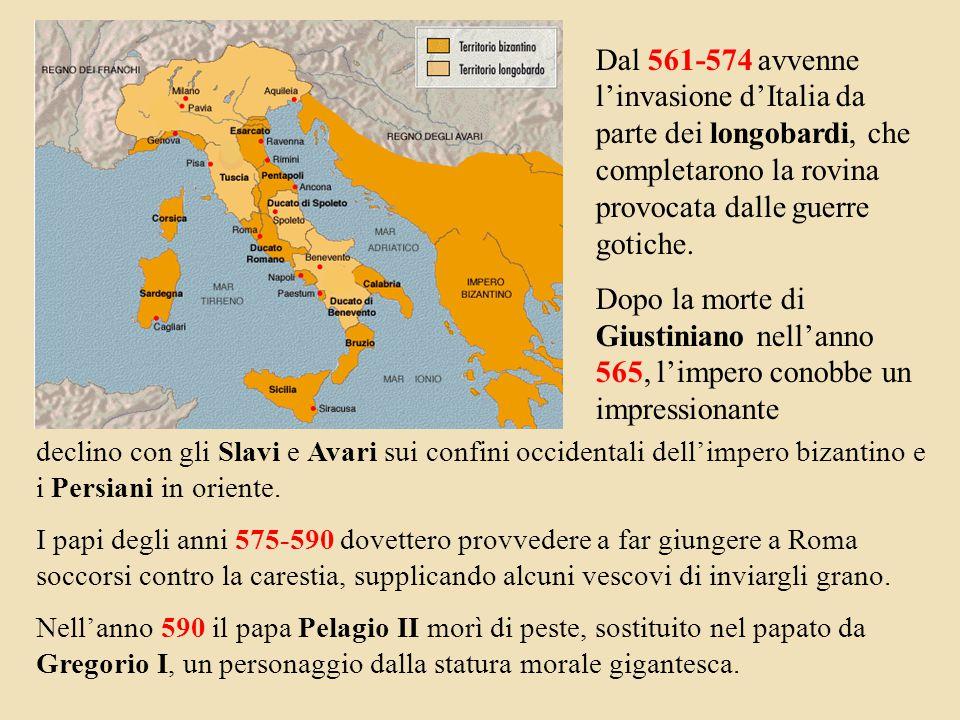 declino con gli Slavi e Avari sui confini occidentali dell'impero bizantino e i Persiani in oriente.
