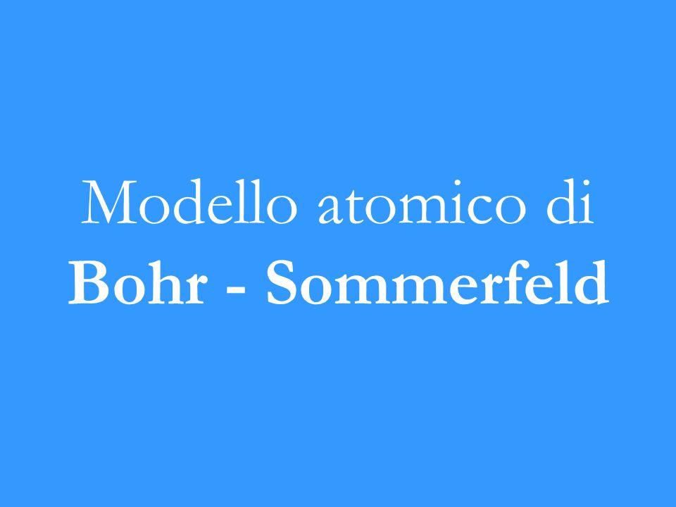 Modello atomico di Bohr - Sommerfeld