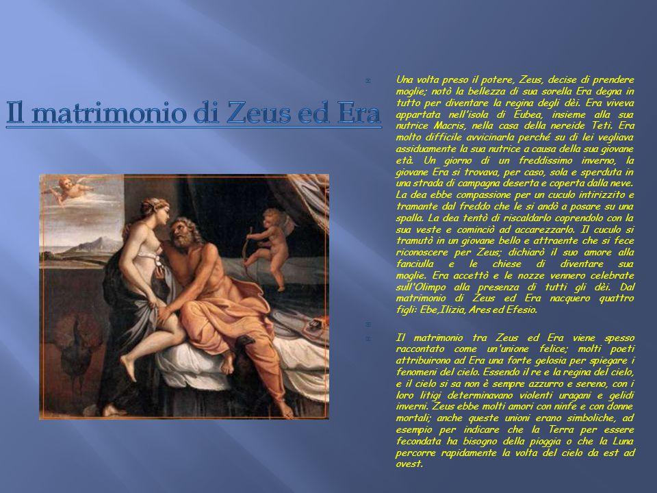  Crono era in tempi lontani il dio supremo. Ebbe dalla moglie Rea sei figli: Estia, Demetra, Era, Ade, Poseidone e Zeus. Poiché gli era stato predett