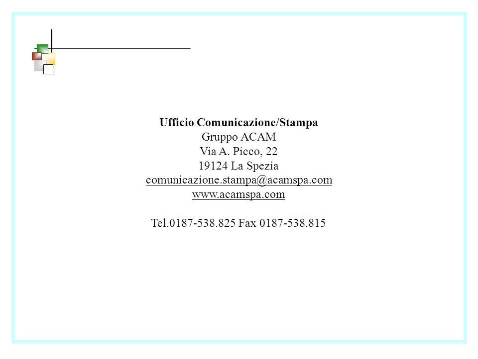 Ufficio Comunicazione/Stampa Gruppo ACAM Via A.