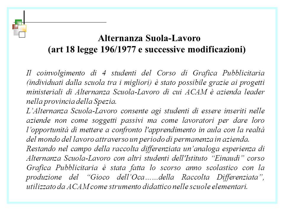 Alternanza Scuola-Lavoro 2010/2011