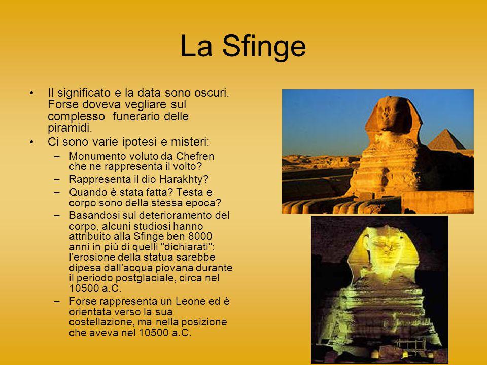La Sfinge Il significato e la data sono oscuri.