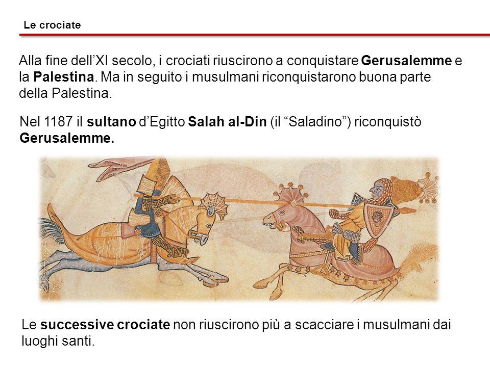 Alla fine dell'XI secolo, i crociati riuscirono a conquistare Gerusalemme e la Palestina. Ma in seguito i musulmani riconquistarono buona parte della