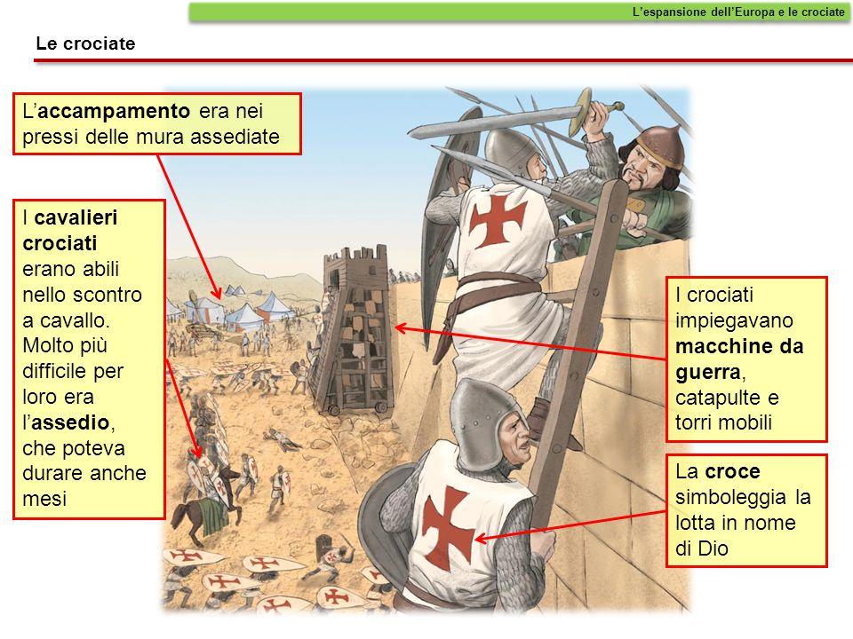 L'espansione dell'Europa e le crociate I cavalieri crociati erano abili nello scontro a cavallo. Molto più difficile per loro era l'assedio, che potev