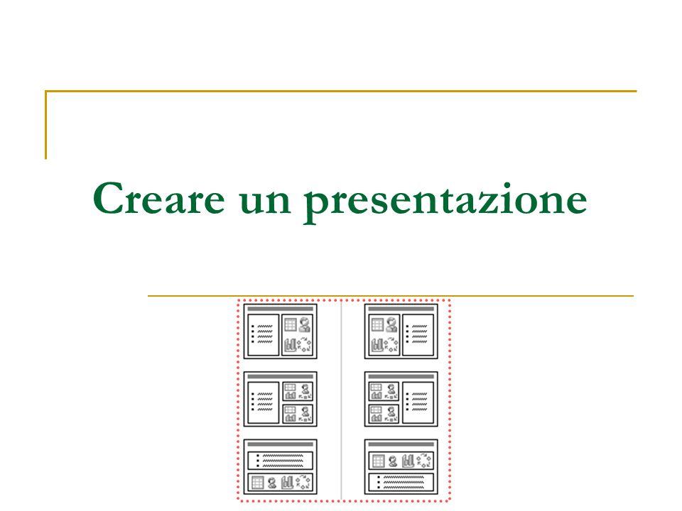 Creare un presentazione