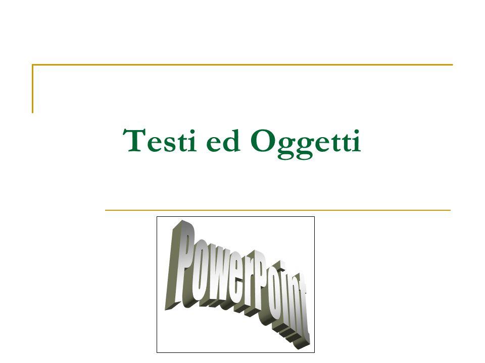 Inserire del testo L'inserimento del testo può essere fatto tramite la visualizzazione struttura che direttamente nella diapositiva.