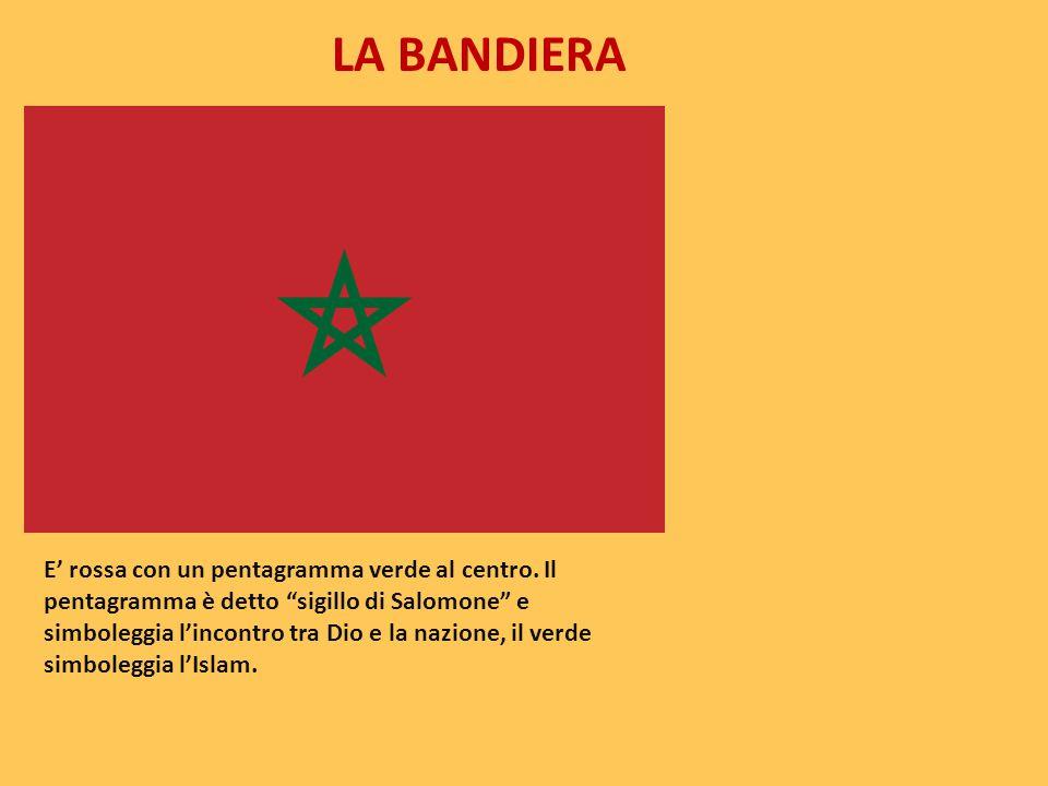 """LA BANDIERA E' rossa con un pentagramma verde al centro. Il pentagramma è detto """"sigillo di Salomone"""" e simboleggia l'incontro tra Dio e la nazione, i"""