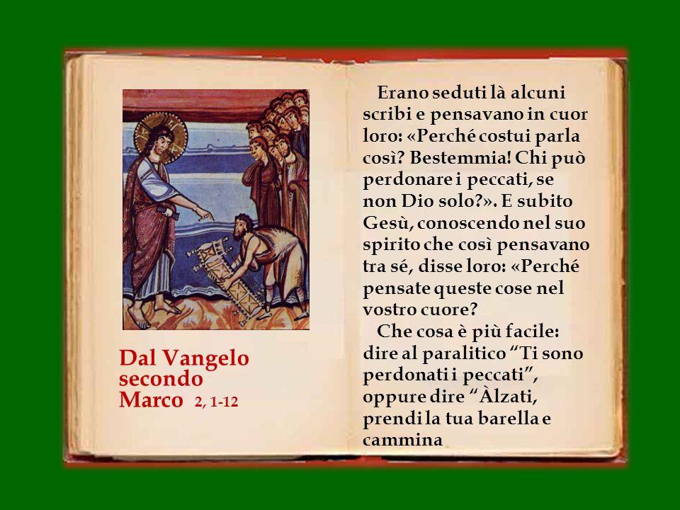 Gesù entrò di nuovo a Cafàrnao, dopo alcuni giorni.