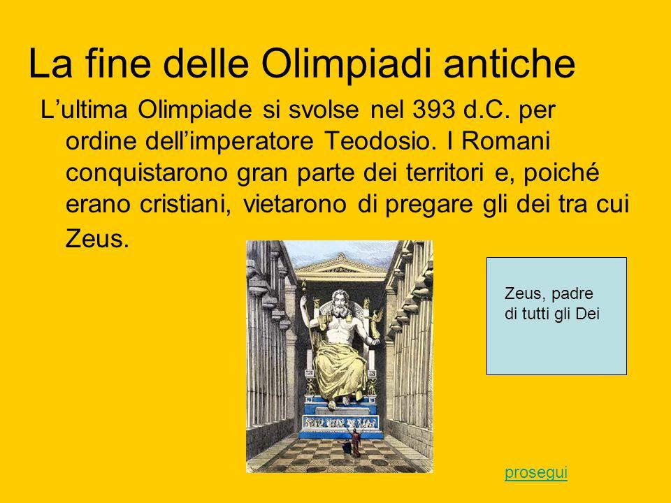Pierre de Coubertin e le Olimpiadi moderne Tra il 1875 e il 1881 alcuni archeologi tedeschi ritrovarono e riportarono alla luce dei resti di templi e delle strutture sportive dell'antica Olimpia.
