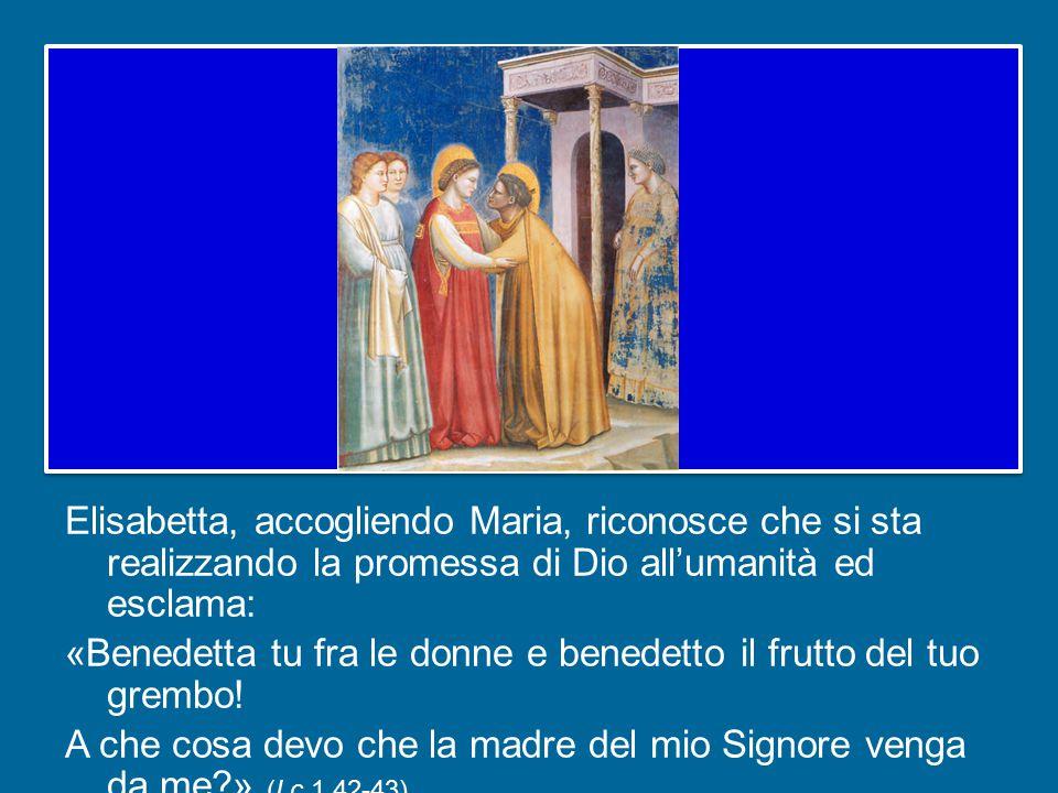 Nell'Annunciazione l'arcangelo Gabriele aveva parlato a Maria della gravidanza di Elisabetta (cfr Lc 1,36) come prova della potenza di Dio: la sterilità, nonostante l'età avanzata, si era trasformata in fertilità.