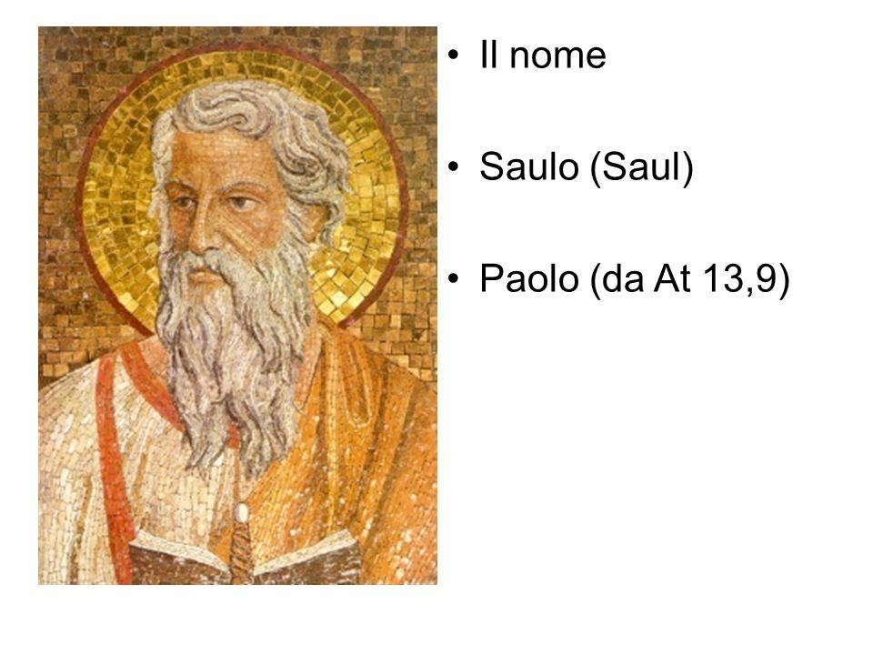 Il nome Saulo (Saul) Paolo (da At 13,9)