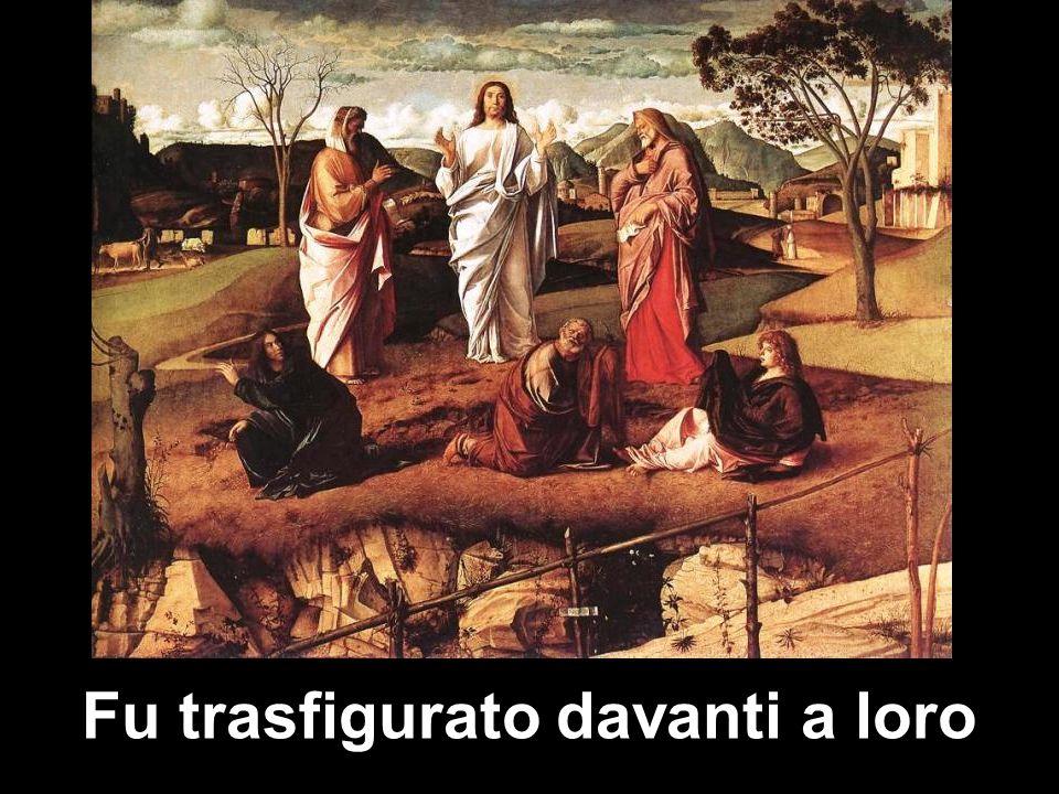Fu trasfigurato davanti a loro