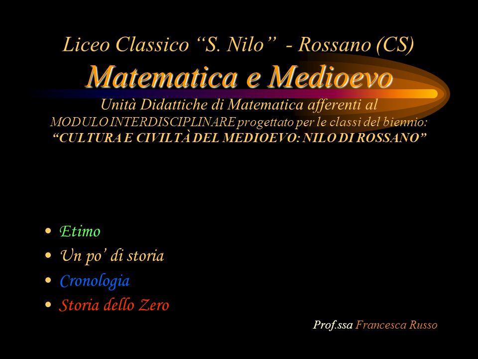 Matematica e Medioevo Liceo Classico S.
