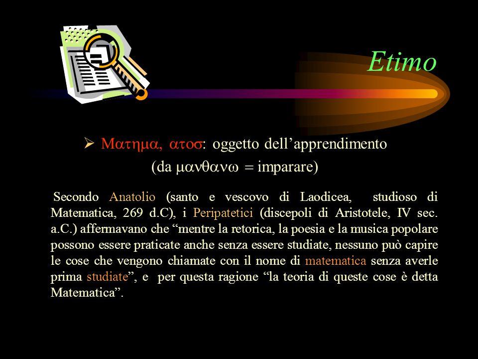 Cronologia 200Diofanto studia l aritmetica, usa i simboli algebrici ed enuncia le regole per risolvere le equazioni di primo e secondo grado.