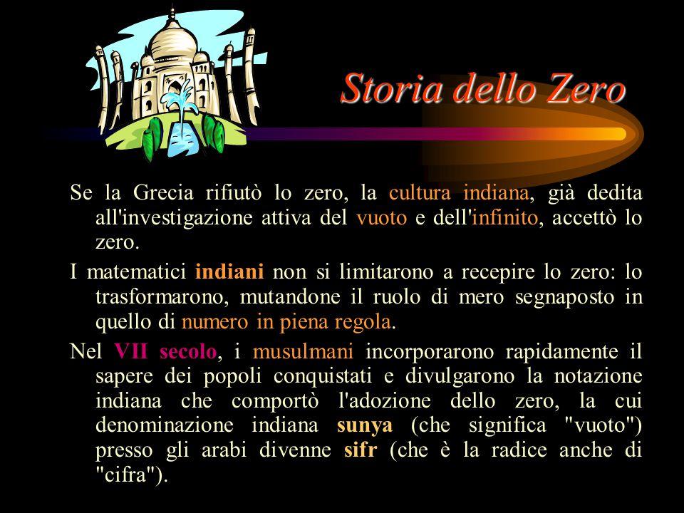 Storia dello Zero Perché avevano paura dello zero? Lo zero presentava alcune caratteristiche destabilizzanti, in quanto: non ha consistenza; sommato o