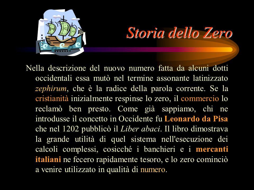 Storia dello Zero Se la Grecia rifiutò lo zero, la cultura indiana, già dedita all'investigazione attiva del vuoto e dell'infinito, accettò lo zero. I
